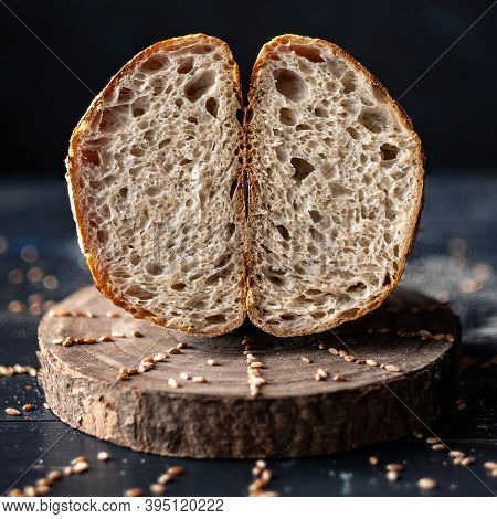 High Hidration Sourdough Bread With An Airy Crumb.