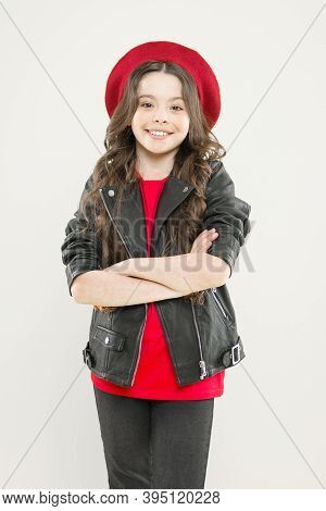 Little Rock Star Concept. Talent Contest. Brutal Style Tender Girl. Rock Style Suits Her. Rock And R