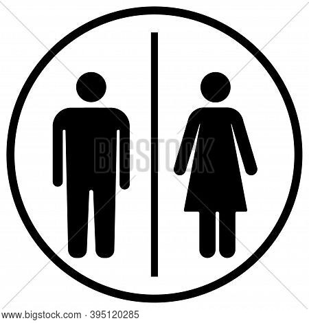 Toilet Icons.woman, Man, Girl, Boy. Flat Vector.ws.