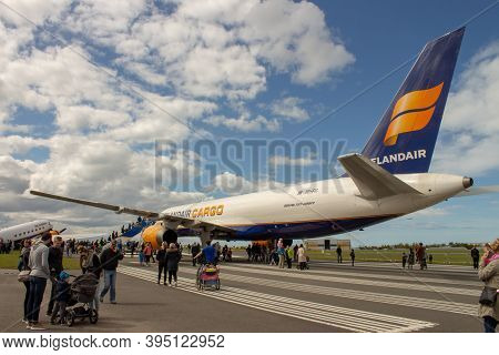 Icelandic Boeing 757-200pf Cargo Airplane From An Airplane Show At Reykjavik Airport On 3rd Of June,