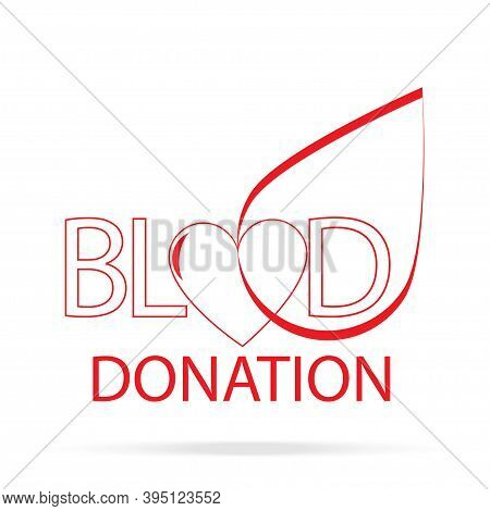 Blood Donation Logo For Medical Design. Blood Donor Vecto Icon.