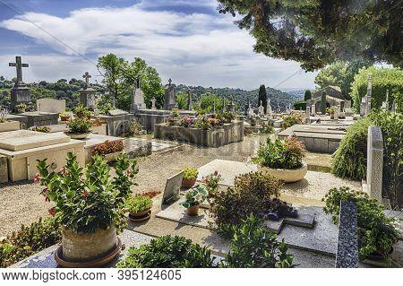 Saint-paul-de-vence, France - August 17: The Municipal Cemetery Of Saint-paul-de-vence, Cote D'azur,
