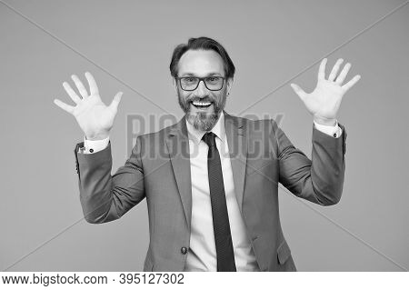 Just Kidding With You. Handsome Confident Businessman. Smart Man With Eyeglasses. Looking Smart And