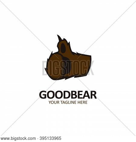 Good Bear Thumb Bear Hand Logo Icon Illustration Of Grizzly Bear Hand