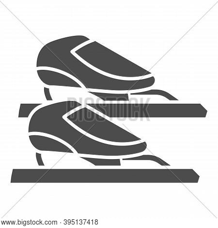 Skater Skates Solid Icon, Winter Sport Concept, Skating Sign On White Background, Figure Skates Symb