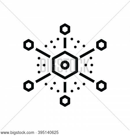 Black Line Icon For Connection Link Bond Join Attachment Network Relation Contact Hub Diagram Intera