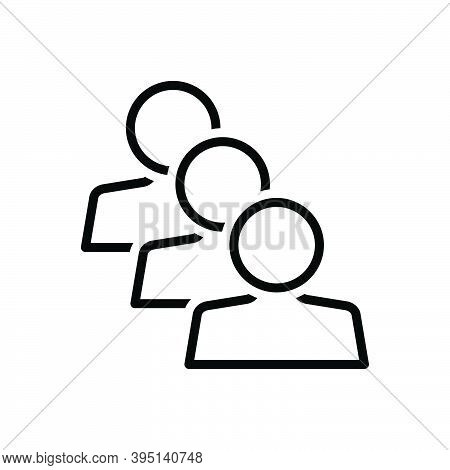 Black Line Icon For Similar Identical Equal Parallel Equivalent People Adult Same