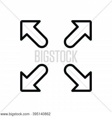 Black Line Icon For Full Whole Entire Complete Adequate Arrow