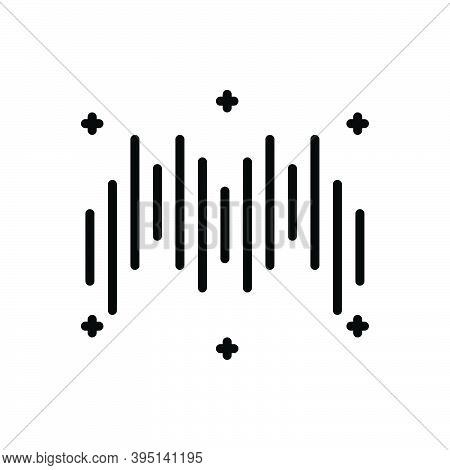 Black Line Icon For Rhythm Cadence Timbre Melody Ragtime Musical Soundwave Frequency Song