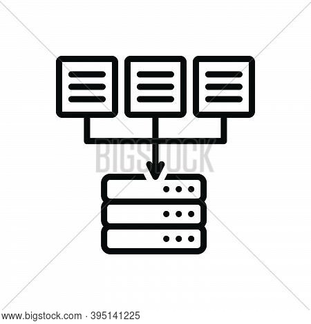 Black Line Icon For Source Origin Wellspring Place-of-origin Data Authority Mainframe Database Softw