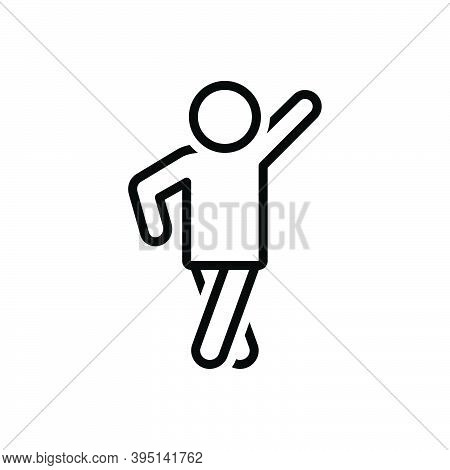 Black Line Icon For Pose Man Modern Human Person Style Photo-shoot Posture Position Stance Attitude