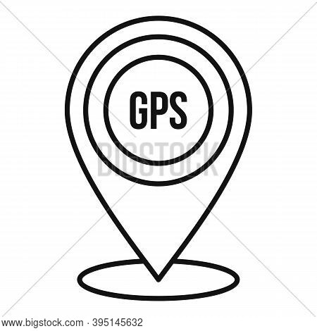 Gps Guide Point Icon. Outline Gps Guide Point Vector Icon For Web Design Isolated On White Backgroun