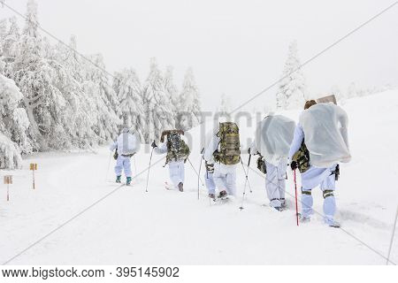 Winter training of the Czech Special force