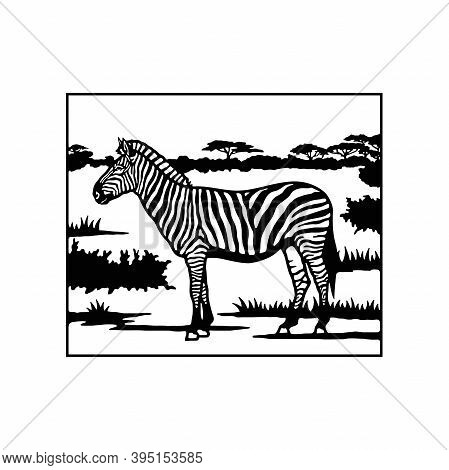 Zebra - Savanna, Africa Wildlife, Wildlife Stencils - Forest Silhouettes For Cricut, Wildlife Clipar
