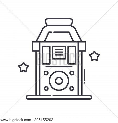 Jukebox Icon, Linear Isolated Illustration, Thin Line Vector, Web Design Sign, Outline Concept Symbo