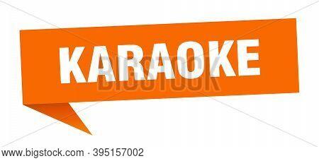 Karaoke Banner. Karaoke Speech Bubble. Karaoke Sign