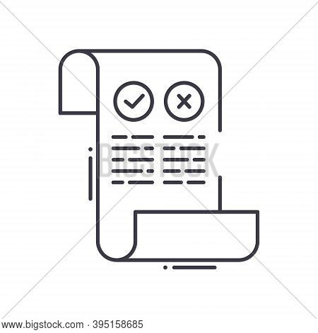 Pros And Cons Icon, Linear Isolated Illustration, Thin Line Vector, Web Design Sign, Outline Concept