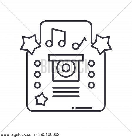 Jukebox Concept Icon, Linear Isolated Illustration, Thin Line Vector, Web Design Sign, Outline Conce