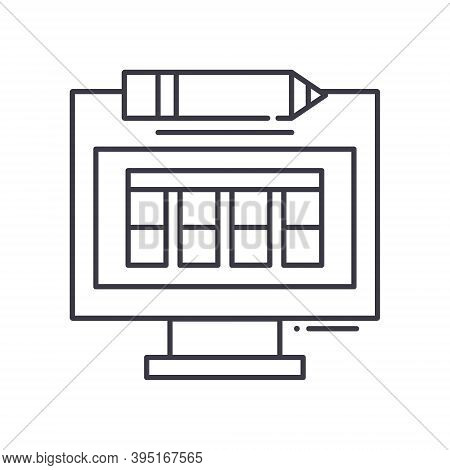 Production Shedule Icon, Linear Isolated Illustration, Thin Line Vector, Web Design Sign, Outline Co