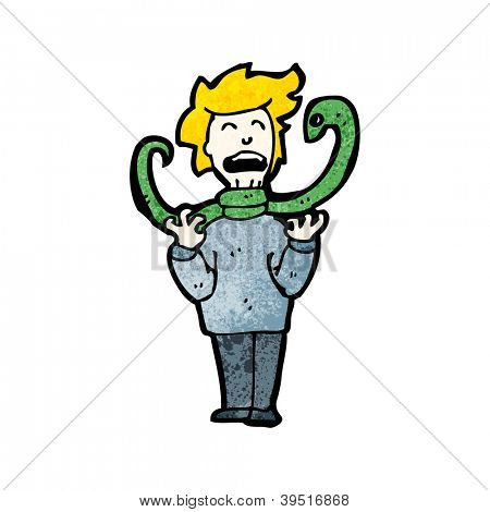 cartoon snake strangling man