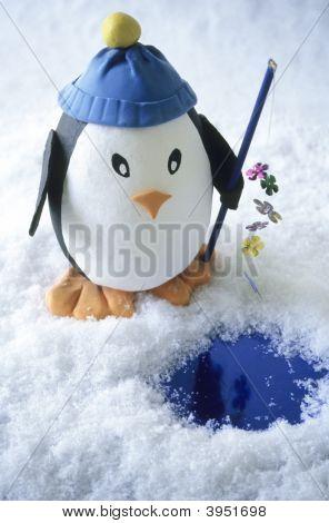 Toy Penguin Fishing
