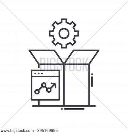 Production Performance Icon, Linear Isolated Illustration, Thin Line Vector, Web Design Sign, Outlin
