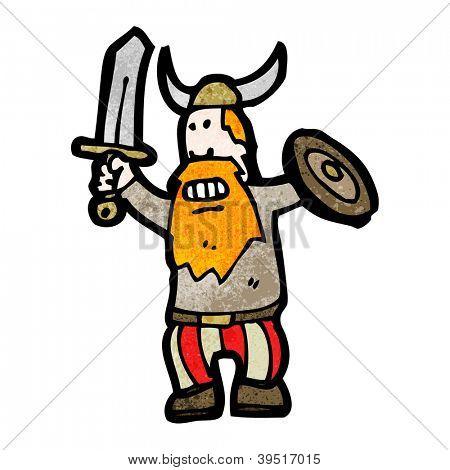 cartoon viking man