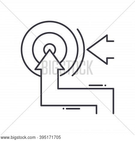 Pursue Goal Icon, Linear Isolated Illustration, Thin Line Vector, Web Design Sign, Outline Concept S