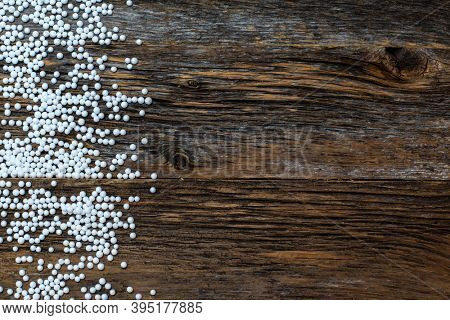 Rustic wood with snow imitation on top