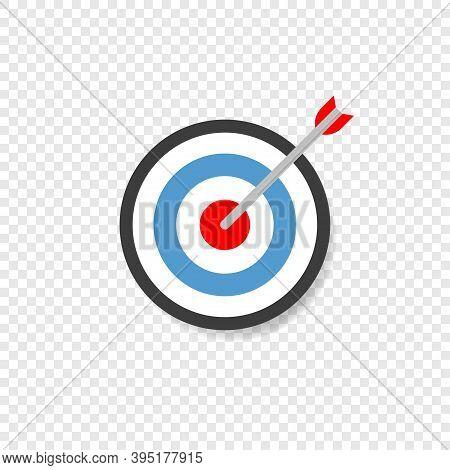 Target Aiming Vector Flat Perfection Goal, Arrow Aim Targeting Concept Illustration