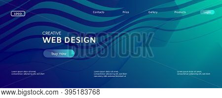 Blue Dynamic Wave. Flow Abstract Concept. Vivid Geometric Shapes. Dynamic Wave. Graphic Texture. Flu