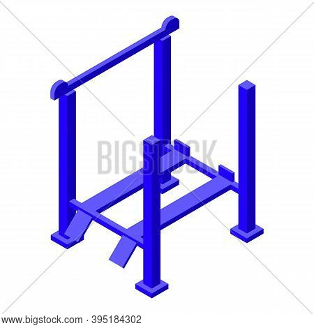 Metal Car Lift Icon. Isometric Of Metal Car Lift Vector Icon For Web Design Isolated On White Backgr
