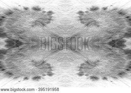 Crumpled Foil Seamless Texture. Abstract Metal Tie Dye Background. Monochrome Vintage Old Aluminium