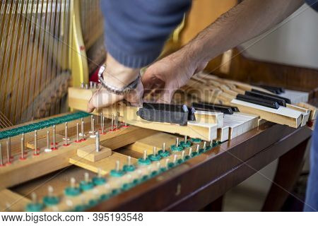 Folding Wooden Piano Keys, Piano Tuning, Tuner, Musical.
