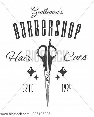Barber Scissors, Rhombic Patterns, Estd 1994, The Inscription Gentlemen S Barbershop, Hair Cutting.