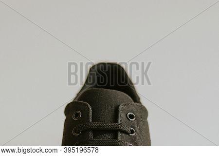 Black canvas sneakers men's shoes