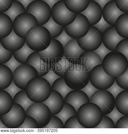 Black Abstract Background. 3d Seamless Geometric Pattern. Vector Illustration Eps10. Stylish Templat