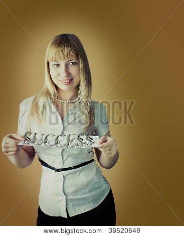 Studio portrait of business woman