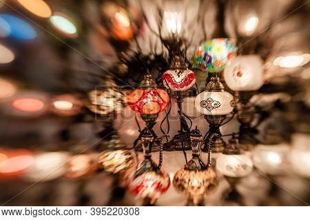 Turkish Decorative Lamps For Sale In The Grand Bazaar Istanbul, Turkey. Turkish Craft Products In Ea