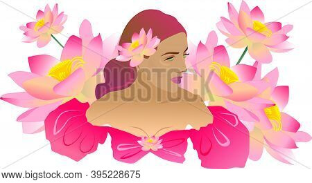 Pink Lotus. Beautiful Flower. Pink Flower, Plant. The Lotus Lake. Lotus Flowers On The Water. The Lo