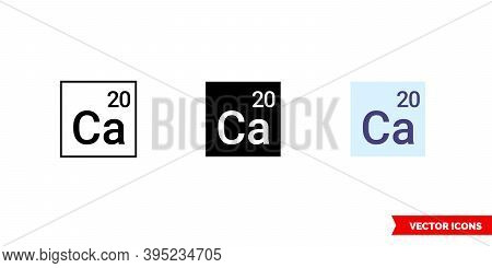 Calcium Icon Of 3 Types Color, Black And White, Outline. Isolated Vector Sign Symbol.