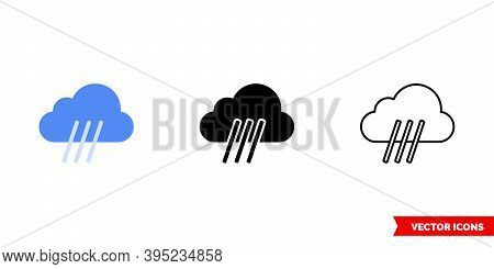 Downpour Icon Of 3 Types Color, Black And White, Outline. Isolated Vector Sign Symbol.