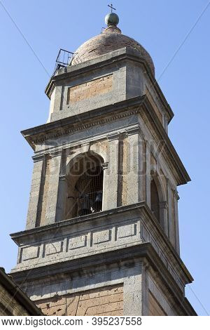 Acquapendente Is A Village In Latium, Italy, St Augustin Steeple