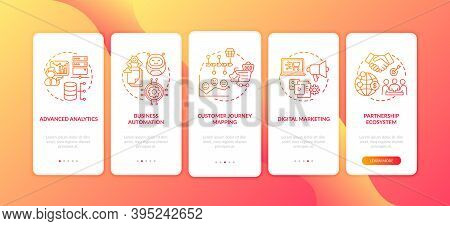 Digital Advisory Onboarding Mobile App Page Screen With Concepts. Customer Journey Mapping, Automati