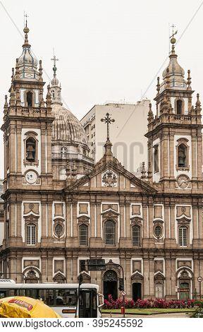 Rio De Janeiro, Brazil - December 26, 2008: El Centro District. Nossa Senhora Da Candelaria Church U