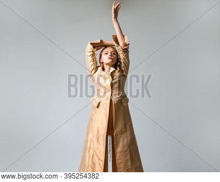 Serious Desire Woman. Dominatrix Blonde Woman. Sexual Woman. Sexy Lady. Woman Elegant Concept. Copy