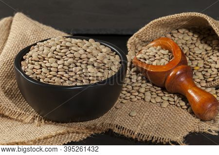 Lentils - Lens Culinaris; Food With A High Concentration Of Nutrients.