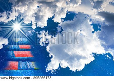 Ladder To Heaven Paradise, Journey Of Soul, Religion Background