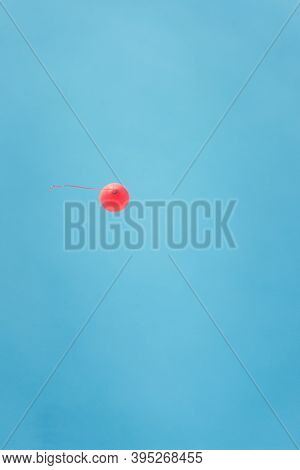 Simple Red Balloon I Flying In The Blue Sky