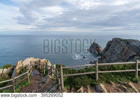 A View Of The Wild And Savage Coast At The Cabo De Penas In Asturias
